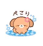ぽかぽかトイプードル(春~初夏)(個別スタンプ:15)