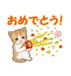 ちび猫 おめでとうスタンプ(個別スタンプ:2)
