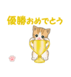 ちび猫 おめでとうスタンプ(個別スタンプ:33)