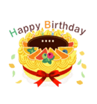名前入誕生日ケーキ(名前の変更可能)第2弾(個別スタンプ:2)
