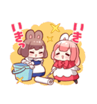 ウサギ目社畜科第2弾(藤沢カミヤ)(個別スタンプ:01)