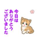 ちび猫 ありがとうスタンプ(個別スタンプ:12)