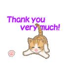 ちび猫 ありがとうスタンプ(個別スタンプ:24)