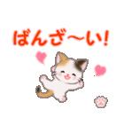 ちび三毛猫 おめでとうスタンプ(個別スタンプ:9)