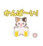 ちび三毛猫 おめでとうスタンプ(個別スタンプ:13)