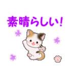 ちび三毛猫 おめでとうスタンプ(個別スタンプ:16)