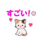 ちび三毛猫 おめでとうスタンプ(個別スタンプ:20)