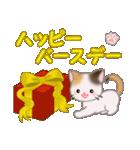 ちび三毛猫 おめでとうスタンプ(個別スタンプ:26)
