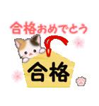 ちび三毛猫 おめでとうスタンプ(個別スタンプ:31)