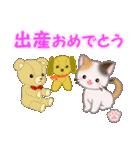 ちび三毛猫 おめでとうスタンプ(個別スタンプ:35)