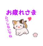 ちび三毛猫 毎日優しいスタンプ(個別スタンプ:7)