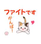 ちび三毛猫 毎日優しいスタンプ(個別スタンプ:27)