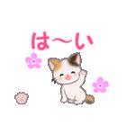 ちび三毛猫 毎日使う言葉(個別スタンプ:25)