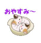 三毛猫ツインズ ひょっこり(個別スタンプ:4)