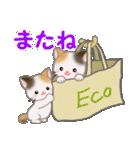三毛猫ツインズ ひょっこり(個別スタンプ:8)