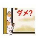 三毛猫ツインズ ひょっこり(個別スタンプ:12)