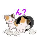 三毛猫ツインズ ひょっこり(個別スタンプ:14)