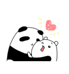 パンダと白いハムスター6(個別スタンプ:1)