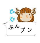 顔文字ガール[ふわふわショートヘアー]編(個別スタンプ:29)