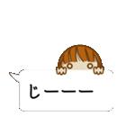 顔文字ガール[ふわふわショートヘアー]編(個別スタンプ:31)