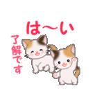 三毛猫ツインズ 毎日優しいスタンプ(個別スタンプ:10)
