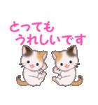 三毛猫ツインズ 毎日優しいスタンプ(個別スタンプ:17)