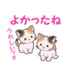 三毛猫ツインズ 毎日優しいスタンプ(個別スタンプ:18)