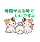 三毛猫ツインズ 毎日優しいスタンプ(個別スタンプ:35)