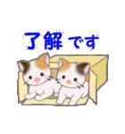 三毛猫ツインズひょっこり(丁寧)(個別スタンプ:9)