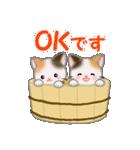 三毛猫ツインズひょっこり(丁寧)(個別スタンプ:10)