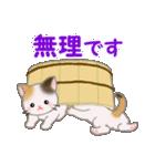三毛猫ツインズひょっこり(丁寧)(個別スタンプ:11)