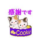 三毛猫ツインズひょっこり(丁寧)(個別スタンプ:13)
