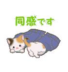 三毛猫ツインズひょっこり(丁寧)(個別スタンプ:14)