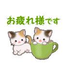 三毛猫ツインズひょっこり(丁寧)(個別スタンプ:21)
