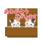 三毛猫ツインズひょっこり(丁寧)(個別スタンプ:23)