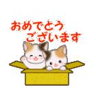 三毛猫ツインズひょっこり(丁寧)(個別スタンプ:25)
