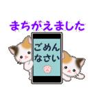 三毛猫ツインズひょっこり(丁寧)(個別スタンプ:28)