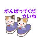 三毛猫ツインズひょっこり(丁寧)(個別スタンプ:34)