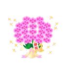動く♪ランランお花を贈ろう(個別スタンプ:22)