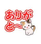 ちび三毛猫 よく使うでか文字(個別スタンプ:13)