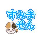 ちび三毛猫 よく使うでか文字(個別スタンプ:19)