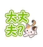 ちび三毛猫 よく使うでか文字(個別スタンプ:25)