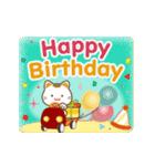 幸運・金運をもたらす招き猫★お祝いと日常(個別スタンプ:13)