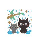 夏☀大人かわいい黒ねこ(個別スタンプ:13)