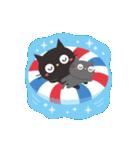 夏☀大人かわいい黒ねこ(個別スタンプ:14)