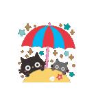 夏☀大人かわいい黒ねこ(個別スタンプ:16)