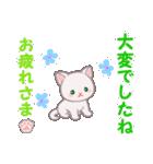 赤ちゃん白猫 毎日優しいスタンプ(個別スタンプ:8)