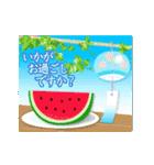 ▶︎動く・夏の涼・敬語挨拶スタンプ(個別スタンプ:05)