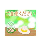 ▶︎動く・夏の涼・敬語挨拶スタンプ(個別スタンプ:09)