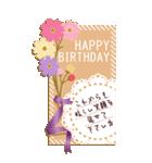 【BIGスタンプ】誕生日メッセージカード(個別スタンプ:07)